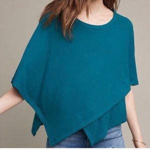 Anthropologie eri & ali teal pullover sweater top